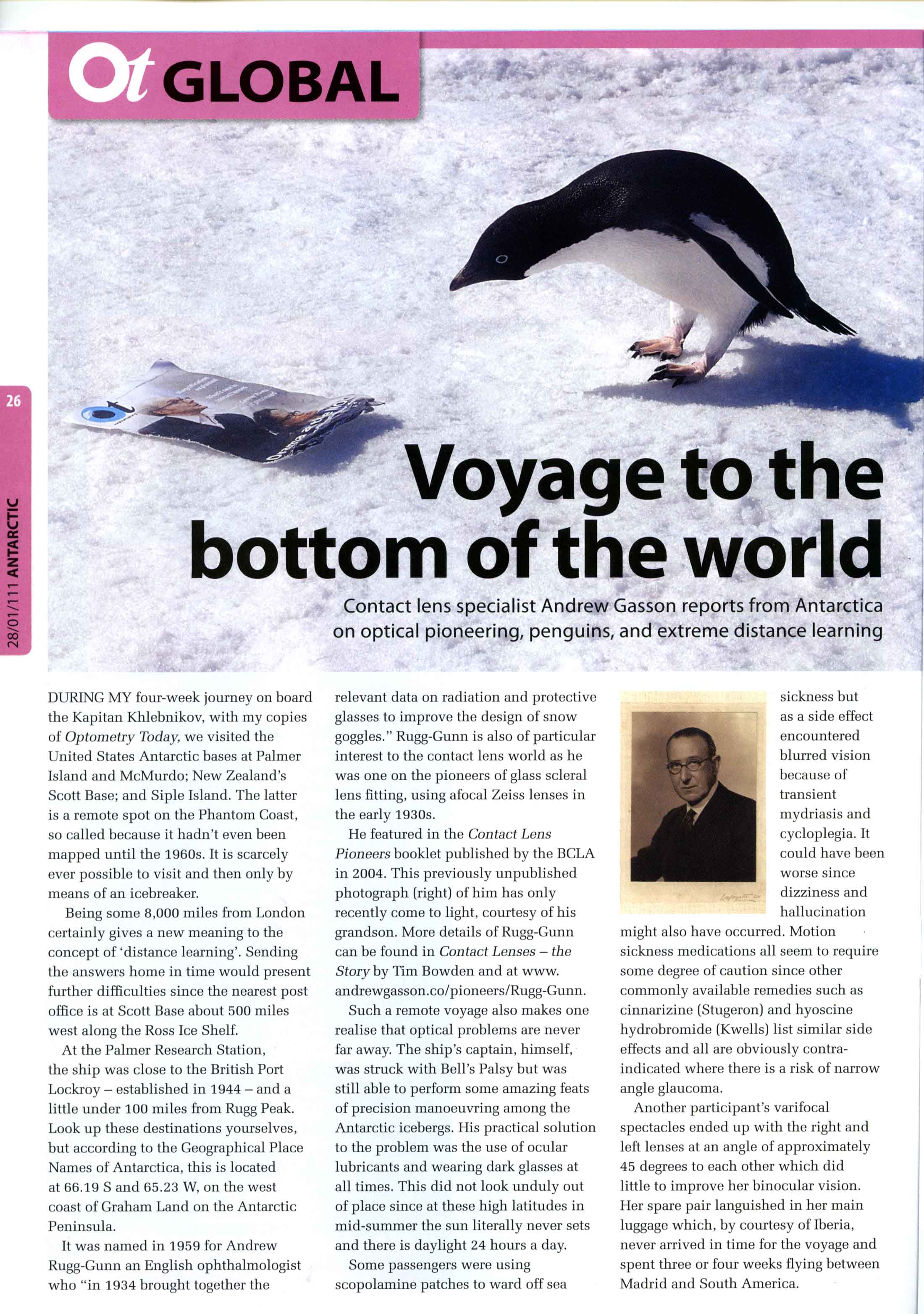 Andrew Gasson visited the Bay of Whales in the Ross Sea