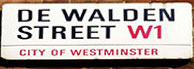 De Walden Street Sign
