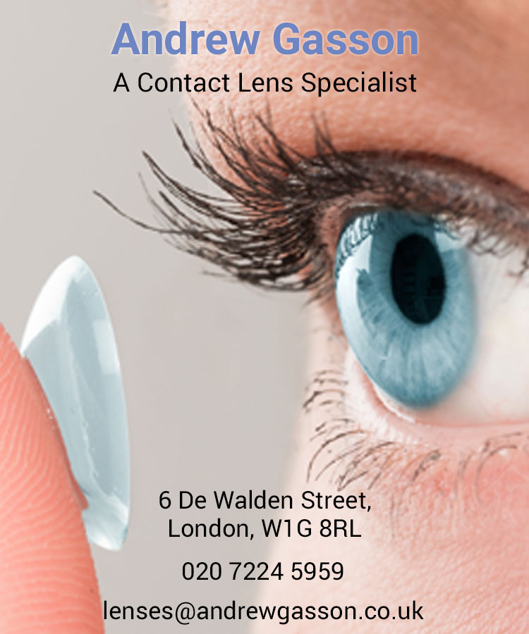 Andrew Gasson - a contact lens specialist
